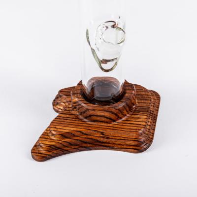 5mm Standard Form mit Holzfuß Zebrano